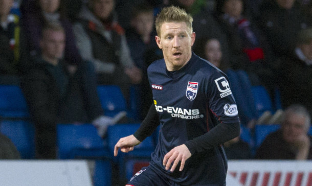 Michael Gardyne in action for Ross County.