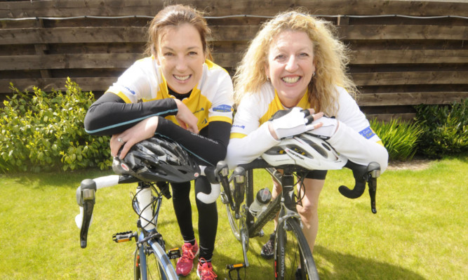 Petra McMillan, left, and Brenda Hally.