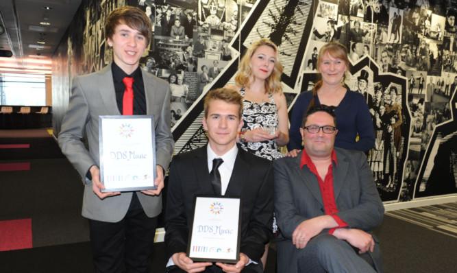 DD8 Musics contingent at the BBC Salford awards ceremony.