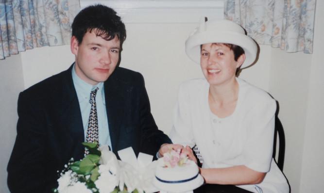 Mrs Watson with husband Alexander.