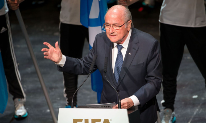 Sepp Blatter speaks during the 65th Fifa Congress Opening Ceremony  in Zurich.