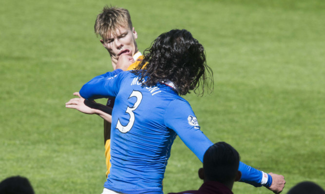 The brawl began after Bilel Mohsni punched Motherwell's Lee Erwin at full time.