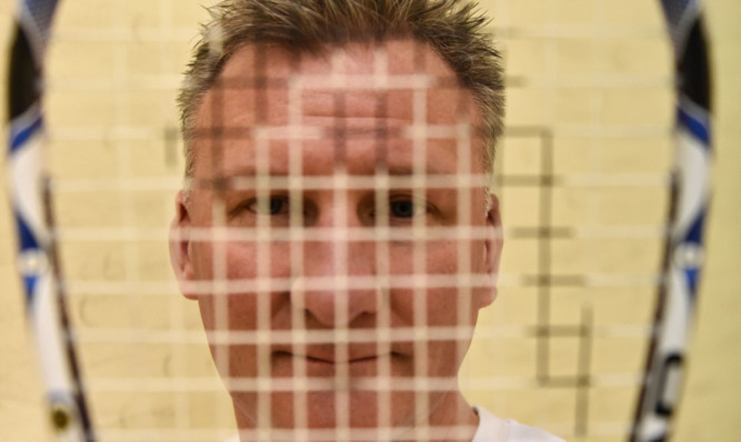 Squash player Mark James.