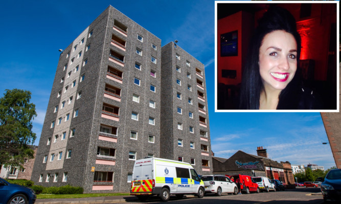 Lydia Macdonald was found dead in her Lickley Court flat in Perth on Wednesday.