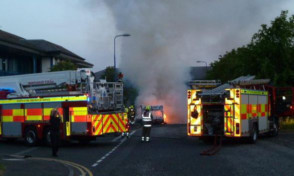 A probe into the cause of the blaze is under way.