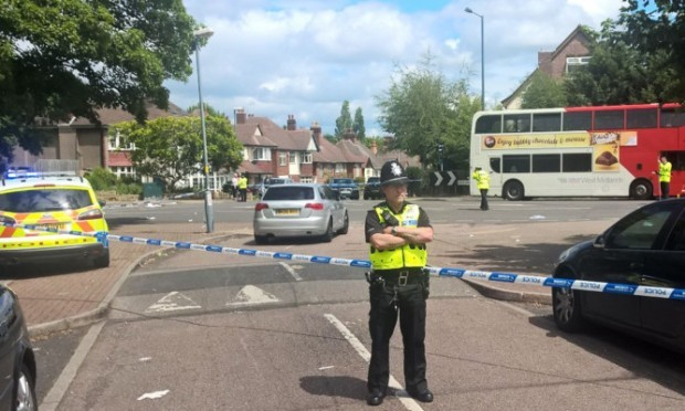 The incident happened on Antrobus Road on the junction of Grove Lane in Birmingham.