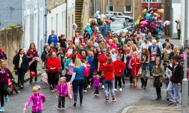 The rain may have fallen on this parade but that failed to deter the dozens of princesses and pirates who stomped through Dysart on Saturday afternoon. Organised by the recently-formed community group Dysart Reborn, the youngsters marched through the puddles from the historic centre of the town to the harbour for a family fun day.
