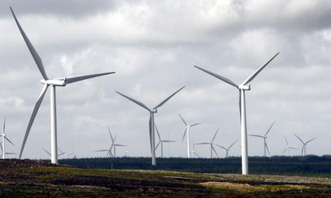 Whitelee windfarm on the outskirts of Glasgow, Europe's biggest onshore windfarm.