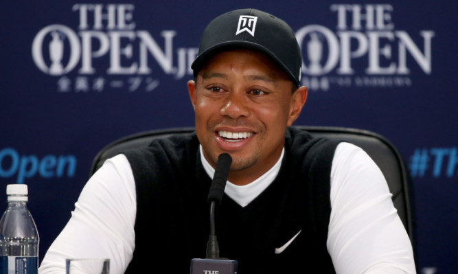 Tiger Woods in rare expansive mood at his Open press conference.