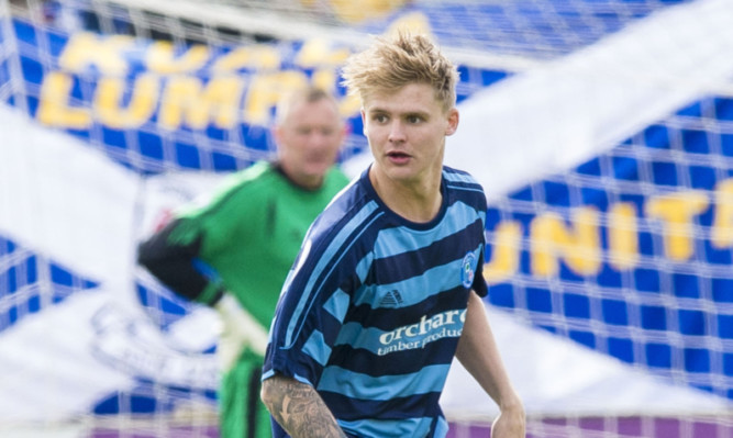 Michael Travis was on target for Forfar.