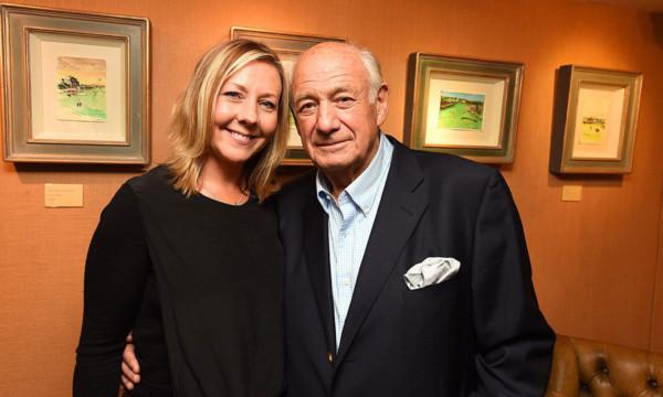 Jo with Harold Riley.