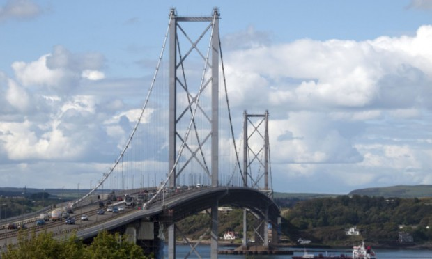 The six-car accident happened on the southbound lane of the Forth Road Bridge.