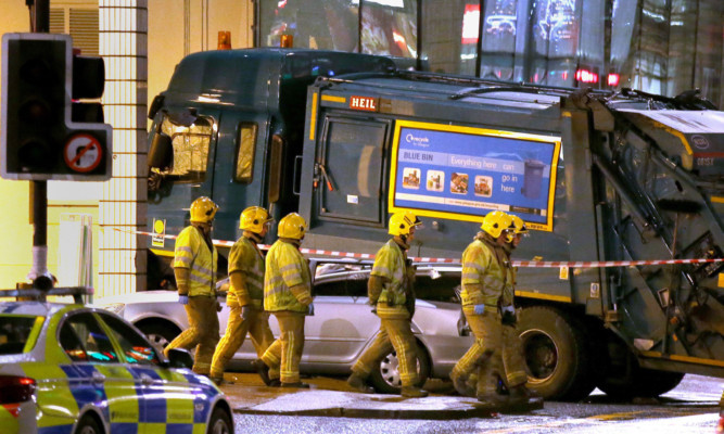 Six people were killed when a bin lorry crashed in George Square, Glasgow.
