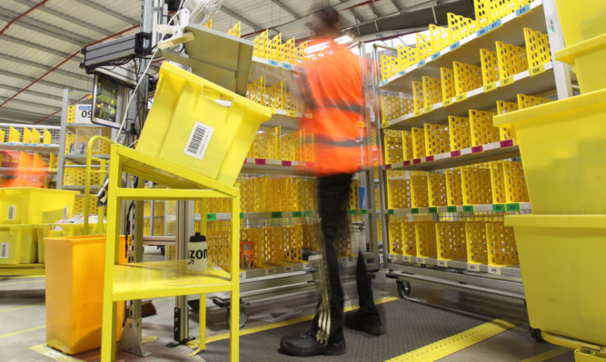 Amazons fulfilment centre in Fife.