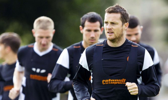 Jon Daly trains with Dundee United.