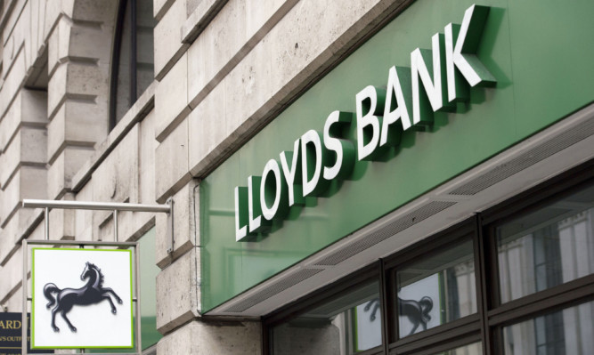 File photo dated 14/02/15 of a Lloyds Bank branch in London. The sale of another tranche of shares in Lloyds Banking Group has taken the Government's stake in the lender to below 20%. ... Lloyds shares ... 12-05-2015 ... London ... UK ... Photo credit should read: Laura Lean/Unique Reference No. 22980144 ... Issue date: Tuesday May 12, 2015. The latest disposal of around 1% of the group represents stock worth in the region of £500 million and means the Treasury has now recouped more than half of the £20 billion in bail-out funds committed in 2009. See PA story CITY Lloyds. Photo credit should read: Laura Lean/PA Wire