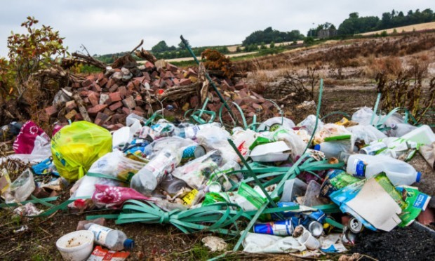 The mess and rubbish left behind.