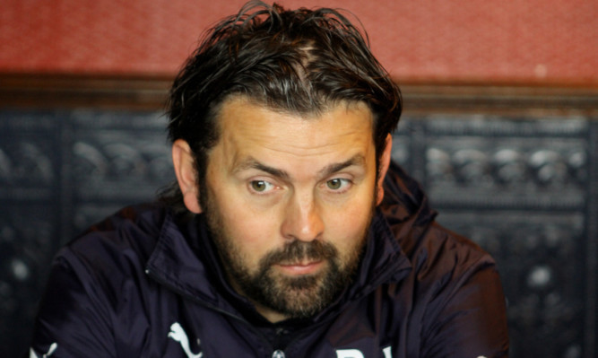 COURIER, DOUGIE NICOLSON, 03/09/15, SPORT. FOR FILES. Dundee FC Manager Paul Hartley at Dens Park today, Thursday 3rd September 2015.