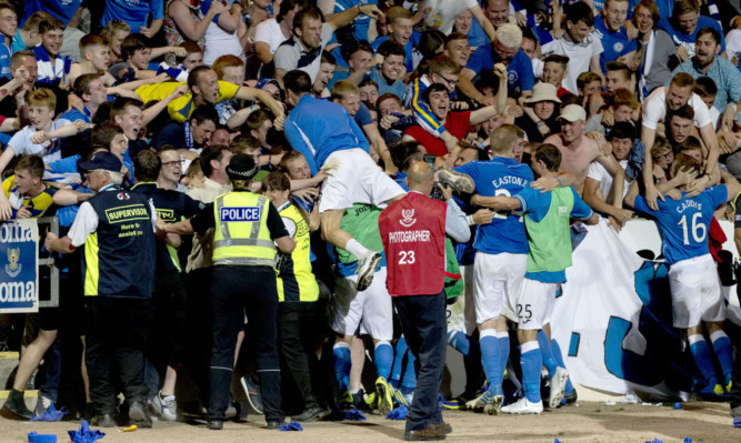 St Johnstone overcome Swiss side FC Luzern in the Europa League qualifiers at McDiarmid Park last year.
