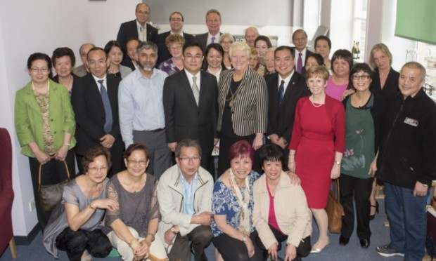 Mayor of Perths twin city Haikou, Ni Qiang, visits Perth as the Mooncake Festival is celebrated by the Chinese Community Lunch Club.