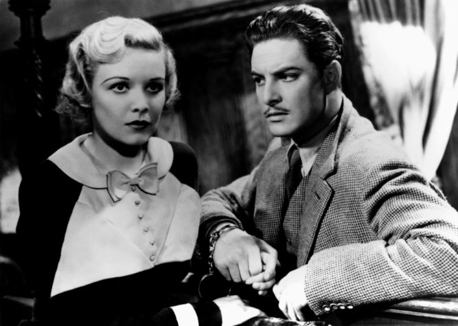 Madeleine Caroll and Robert Donat film 'The 39 Steps' (1935) directed by Alfred Hitchcock