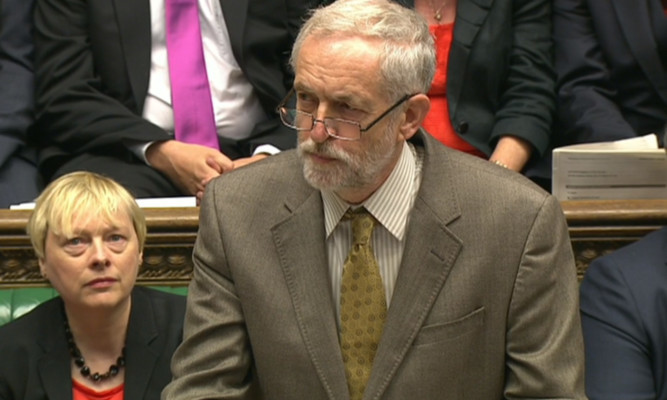 Jeremy Corbyn adopted a calm, measured style for his first PMQs.