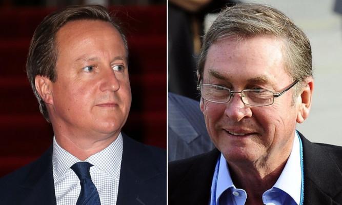 David Cameron and Lord Ashcroft.