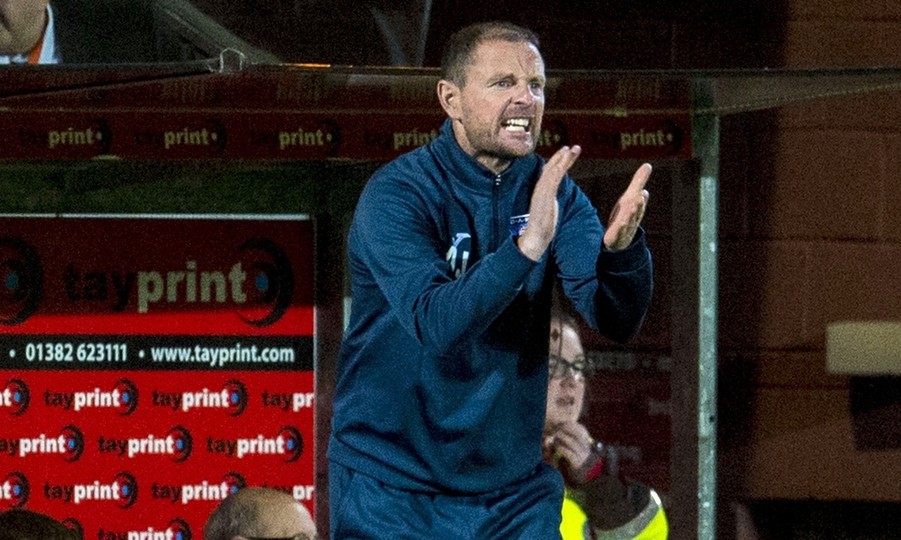 22/09/15 SCOTTISH LEAGUE CUP THIRD RND    DUNDEE UNITED v DUNFERMLINE    TANNADICE - DUNDEE    Dunfermline manager Allan Johnston