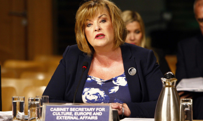 Culture Secretary Fiona Hyslop appears before Holyrood's Education and Culture Committee.