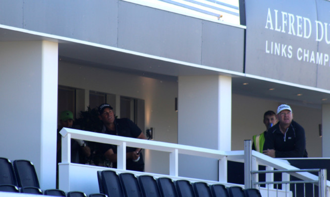 Shane Warne chipped one out of the hospitality suite