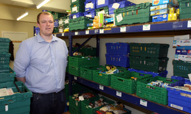 Dundee Foodbank volunteers such as Dave Morris have been delighted with the citys support.