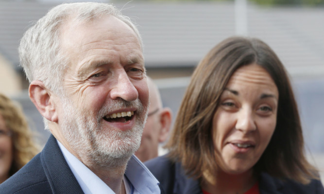 Labour leader Jeremy Corbyn pictured with Scottish Labour leader Kezia Dugdale during a recent visit to Scotland.