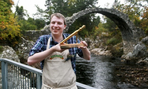 Simon Rookyard was winner of 2015 Golden Spurtle at this year's World Porridge Making Championships held at Carrbridge.