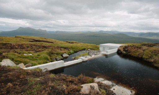 The new hydro scheme at Allt Choire a Bhalachain, on the south side of Loch Garry.