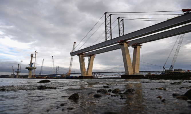 A Chinese firm was awarded the contract to provide steel for the £790 million Queensferry Crossing.