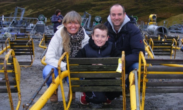 Stuart Fyvie, with sister Alison and son Adam, snapped one up in tribute to his father.