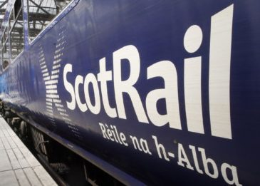 ScotRail said the vehicle was left on the line between Burntisland and Kinghorn.