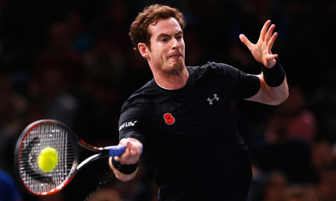 Andy Murray on his way to victory.