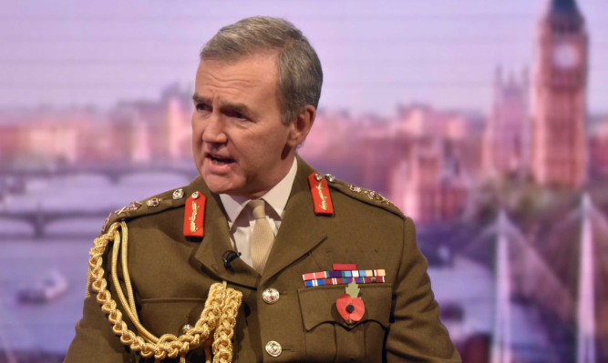 The Chief of the Defence Staff, General Sir Nicholas Houghton appearing on The Andrew Marr Show on BBC One.