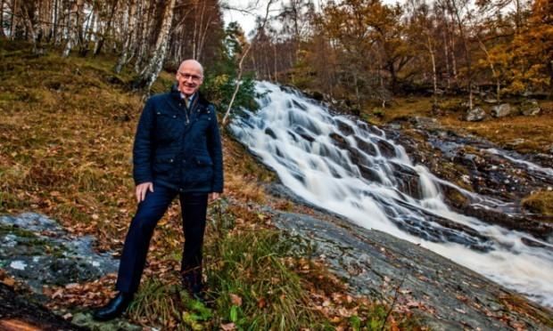 John Swinney launches the Allt Mor hydro scheme at Kinloch Rannoch.