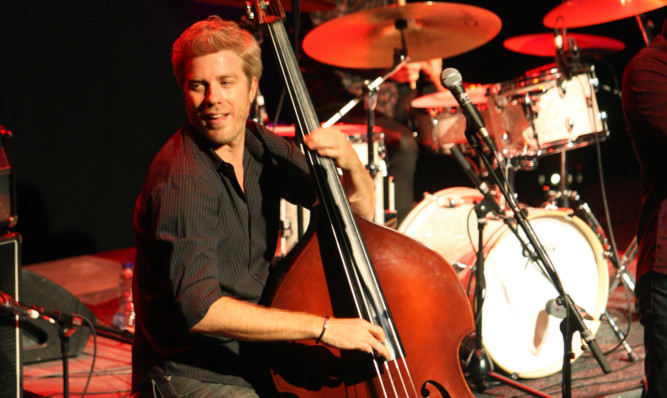 Kyle Eastwood on stage at the Gardyne.