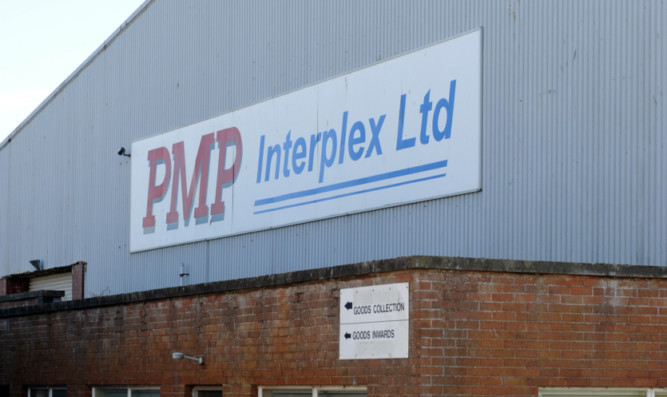 The offices of Interplex PMP at Elliot Industrial Estate in Arbroath.