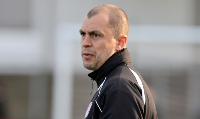 Arbroath manager Todd Lumsden.