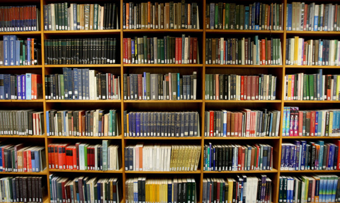Kris Miller, Courier, 27/01/15. Picture today shows general view of library books on shelves for files.