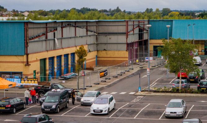 The St Catherines Retail Park in Perth has been going through refurbishment.