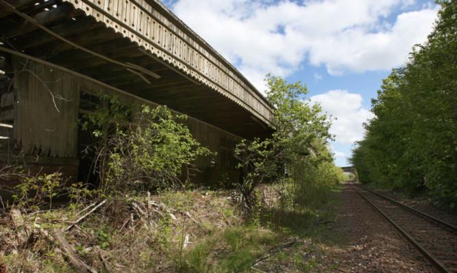 Newburgh's old railway halt photographed in 2011.
