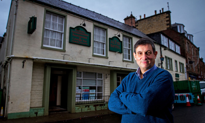 Alyth Hotel owner David Coupar hopes to reopen his business by March.