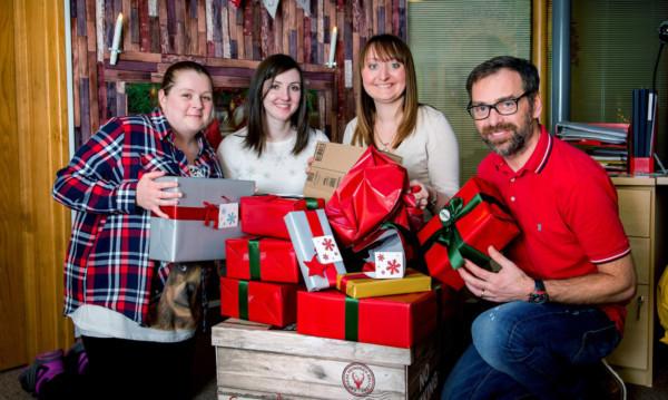 From left: Kerryann Graham, Elaine Taylor, CHAS fundraiser Laura Campbell and Gavin Morrison.