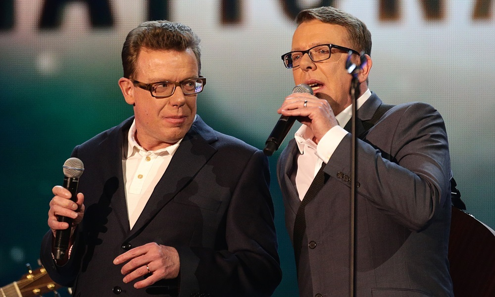 The Proclaimers perform during the 2015 National Television Awards at the O2 Arena, London.