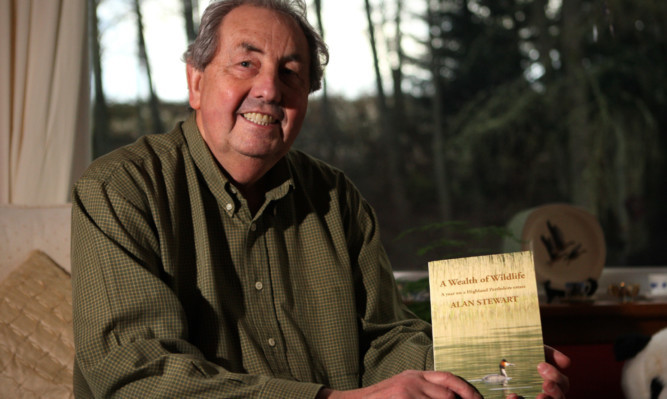 Retired Tayside police wildlife crime officer Alan Stewart who has written and new book 'A Wealth of Wildlife (a year on a Highland Perthsire Estate)'